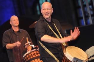 Drumming live